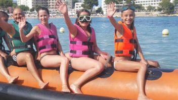 banana boat de ski pepe watersports ibiza