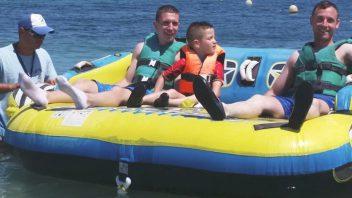 Hinchable de ski pepe watersports ibiza en s canar