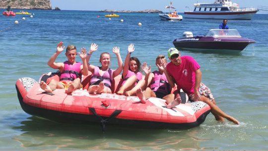 hinchables con ski pepe watersports ibiza en es canar